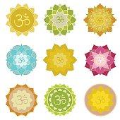 Om symbols isolated