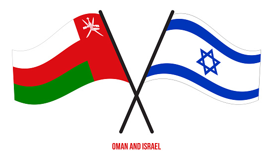 Oman And Israel Flags Crossed And Waving Flat Style Official Proportion Correct Colors Stock Illustration - Download Image Now - iStock