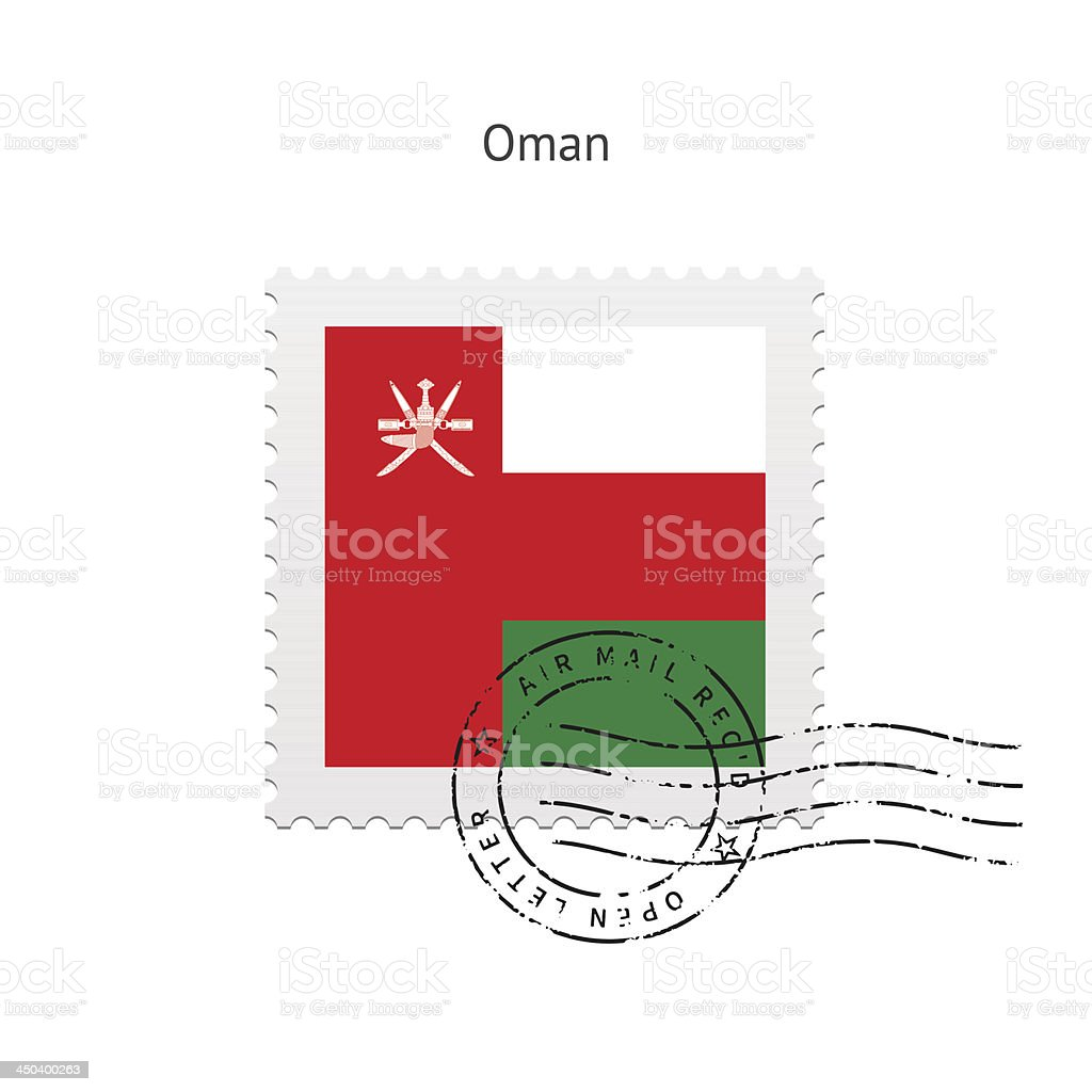Oman Flag Postage Stamp royalty-free oman flag postage stamp stock vector art & more images of clip art