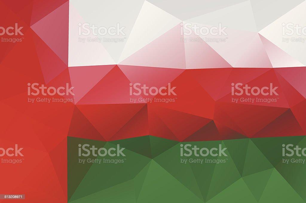 Oman flag vector art illustration