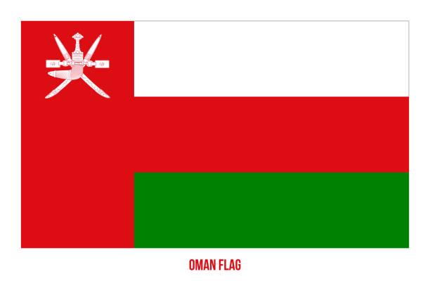 oman flag vector illustration on white background. oman national flag. - oman stock illustrations