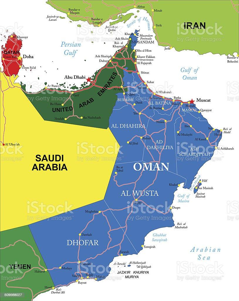 Karte Oman.Oman Karte Stock Vektor Art Und Mehr Bilder Von Abu Dhabi Istock