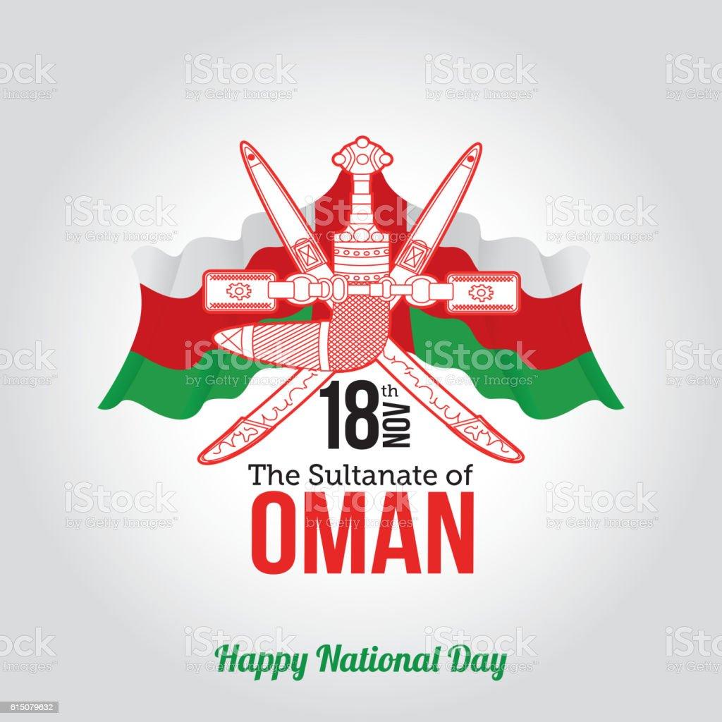 Oman National Day Celebration vector art illustration