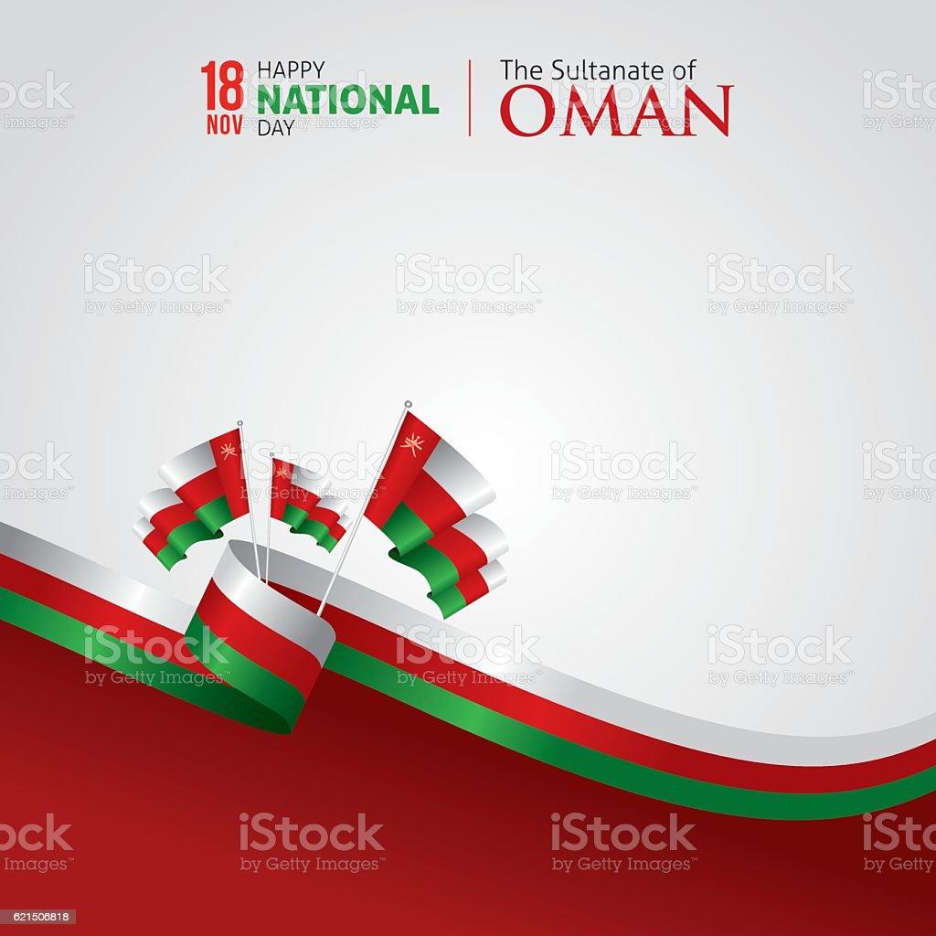 Oman National Day vector art illustration