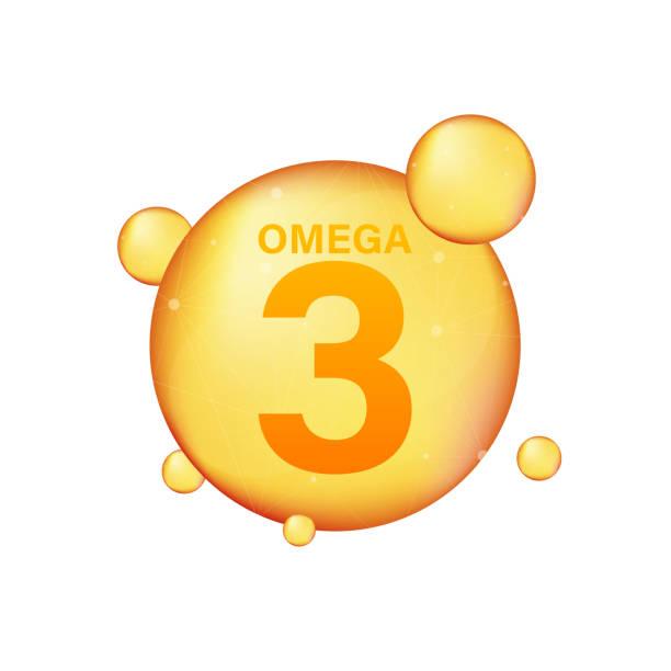 bildbanksillustrationer, clip art samt tecknat material och ikoner med omega 3 guld-ikonen. vitamin droppe piller kapsel. lysande gyllene essens droplet. vektor illustration. - omega 3