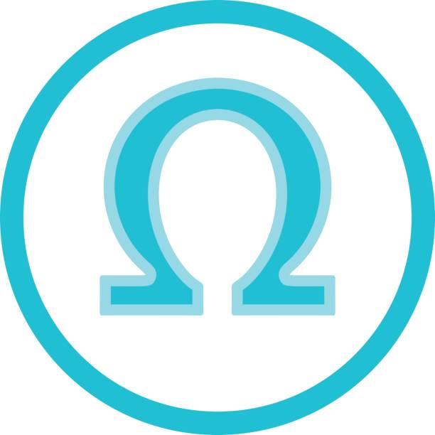 bildbanksillustrationer, clip art samt tecknat material och ikoner med omega syra blå runda ikonen - omega 3