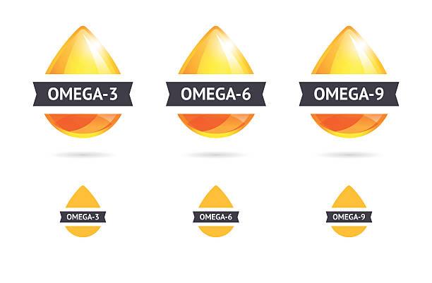 bildbanksillustrationer, clip art samt tecknat material och ikoner med omega fatty acids - omega 3