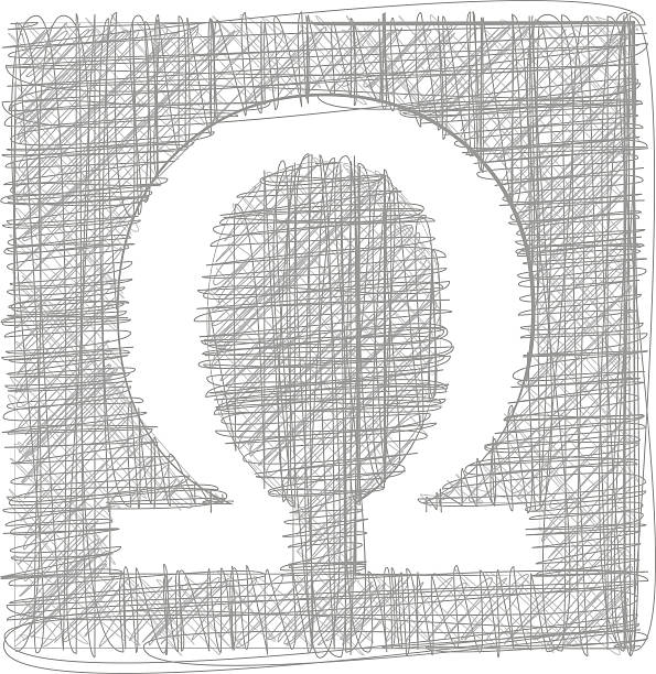Royalty Free Omega Text Symbol Drawings Clip Art Vector Images