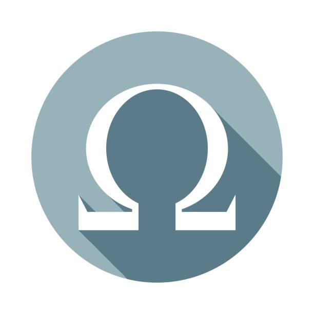 bildbanksillustrationer, clip art samt tecknat material och ikoner med omega tecknet ikonen i platt länge skuggtyp. en av web collection-ikonen kan användas för ui, ux - omega 3