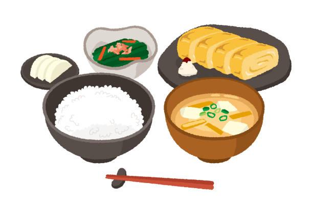 オムレト和朝食 - 和食点のイラスト素材/クリップアート素材/マンガ素材/アイコン素材