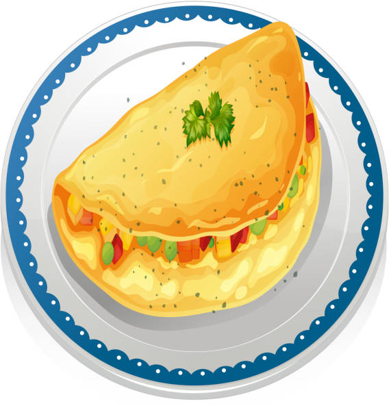 Omelet vector art illustration