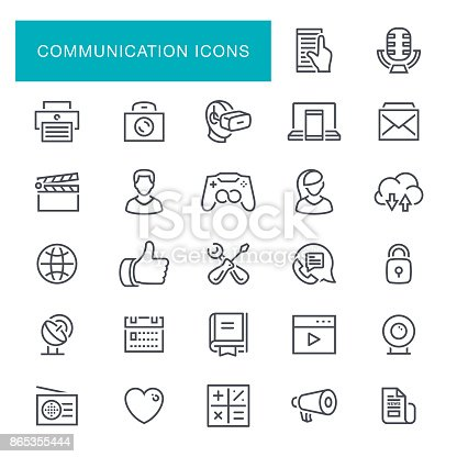 Social Media and Communication Icon Set