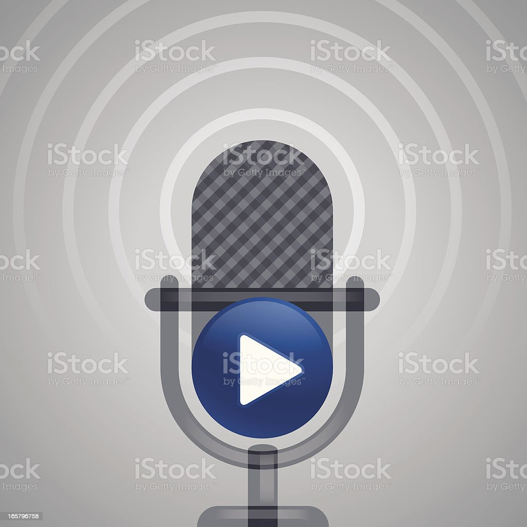 On Air Microphone royalty-free stock vector art