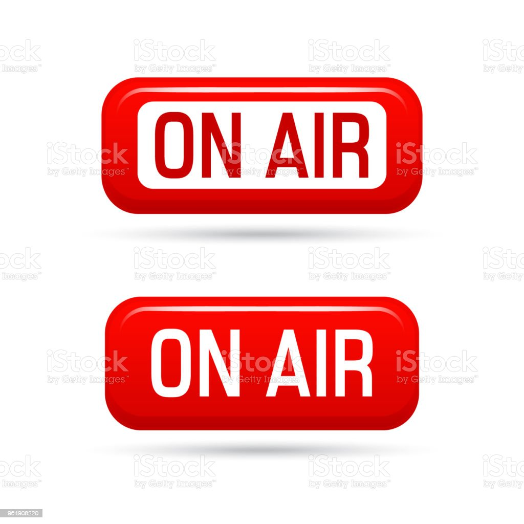 On air vector sign. Live stream symbol. Illustrration on-air sign, broadcast media sound, radio and television record. royalty-free on air vector sign live stream symbol illustrration onair sign broadcast media sound radio and television record stock vector art & more images of arts culture and entertainment