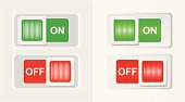 On and off sliders in two variants (with and without gradients). Wall background on separate layer.