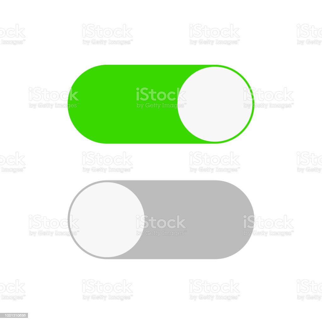On And Off Switch Toggle Simple Flat Icon Design Stock Vector ...