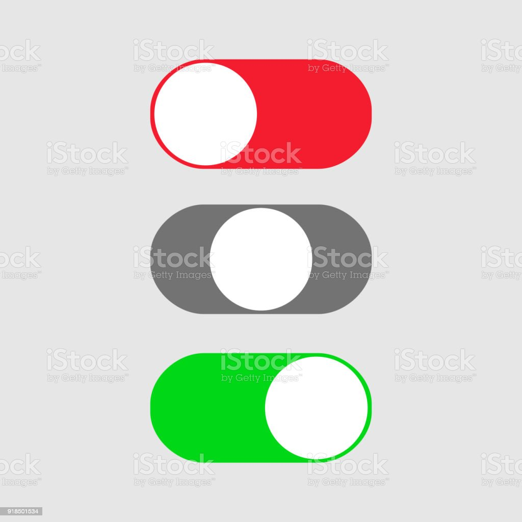 On And Off Switch Toggle Simple Flat Icon Design Stock Vector Art ...