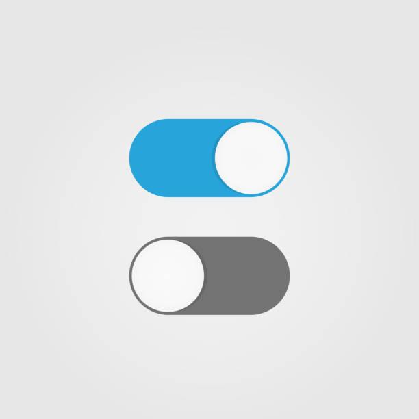 ilustraciones, imágenes clip art, dibujos animados e iconos de stock de encendido y apagado interruptor de palanca - interruptor