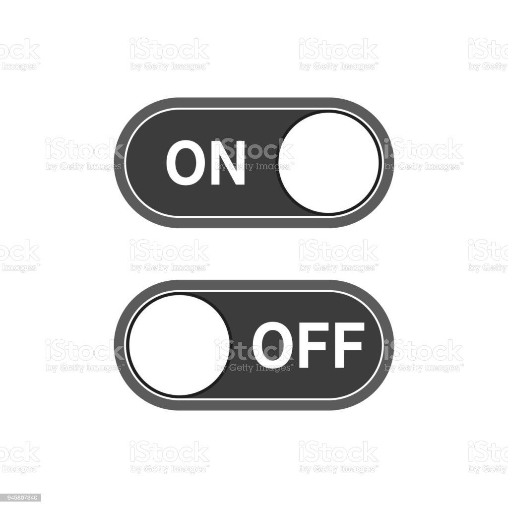 Ein Und Ausschalten Schalter Symbol Vektorillustration Stock Vektor ...