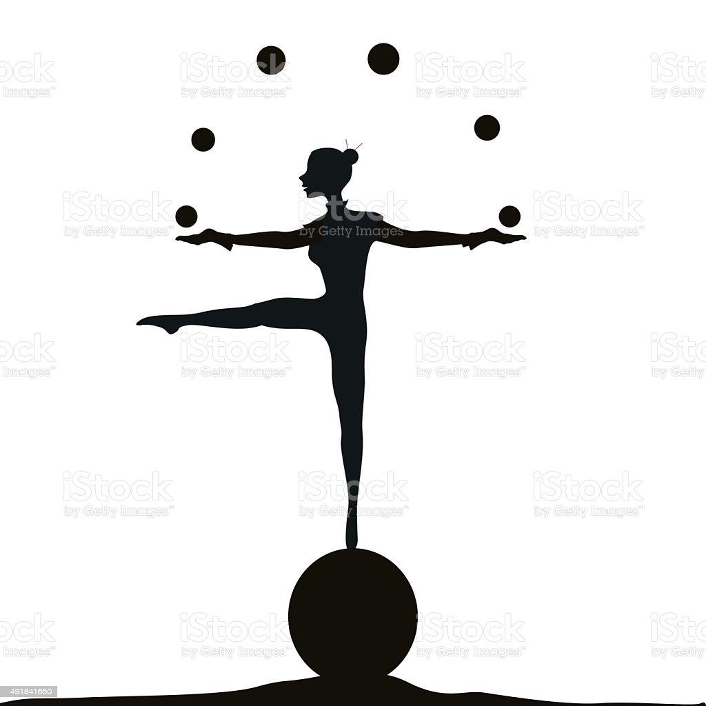 on ball vector art illustration