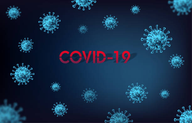 COVID-19 on Blue background. World Health Organization WHO introduced new official name for Coronavirus disease named COVID-19 COVID-19 on Blue background. World Health Organization WHO introduced new official name for Coronavirus disease named COVID-19 living organism part stock illustrations
