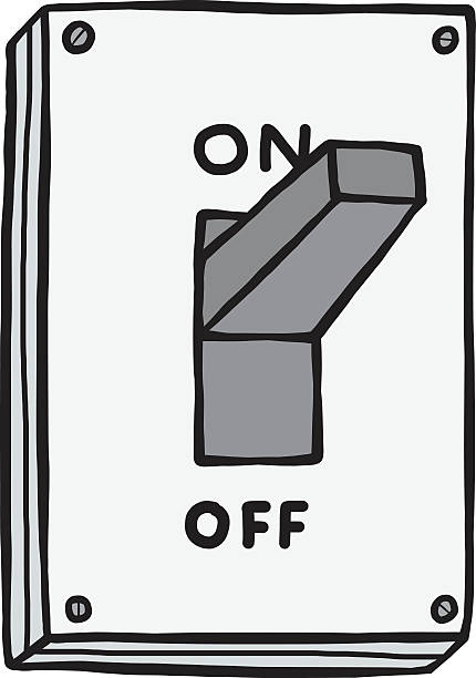 royalty free drawing of a on off switch clip art vector images