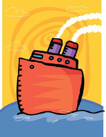 Лодка На Океан — стоковая векторная графика и другие изображения на тему Атлантический океан
