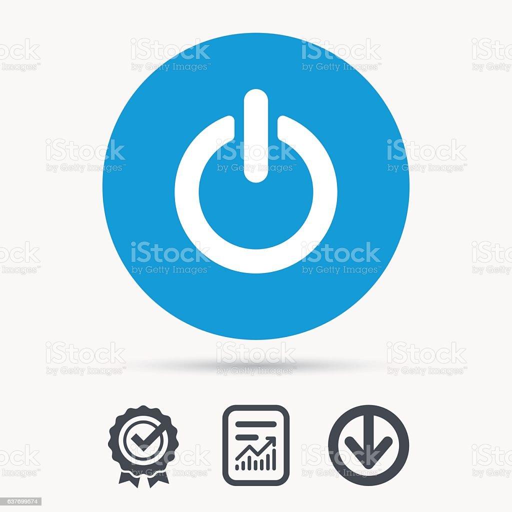 An Aus Powersymbol Energieschalter Melden Stock Vektor Art und mehr ...