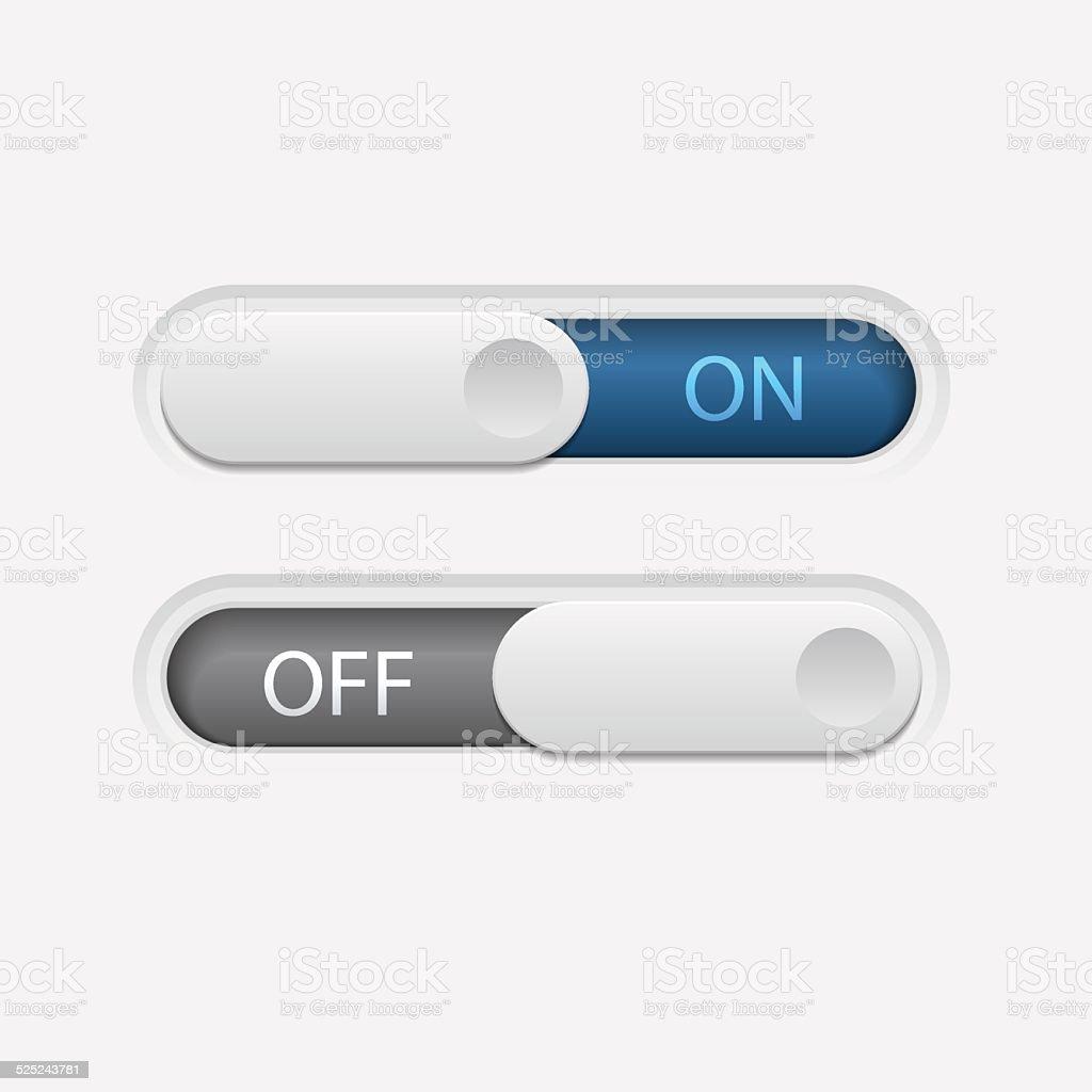 On Off Silde Button vector art illustration