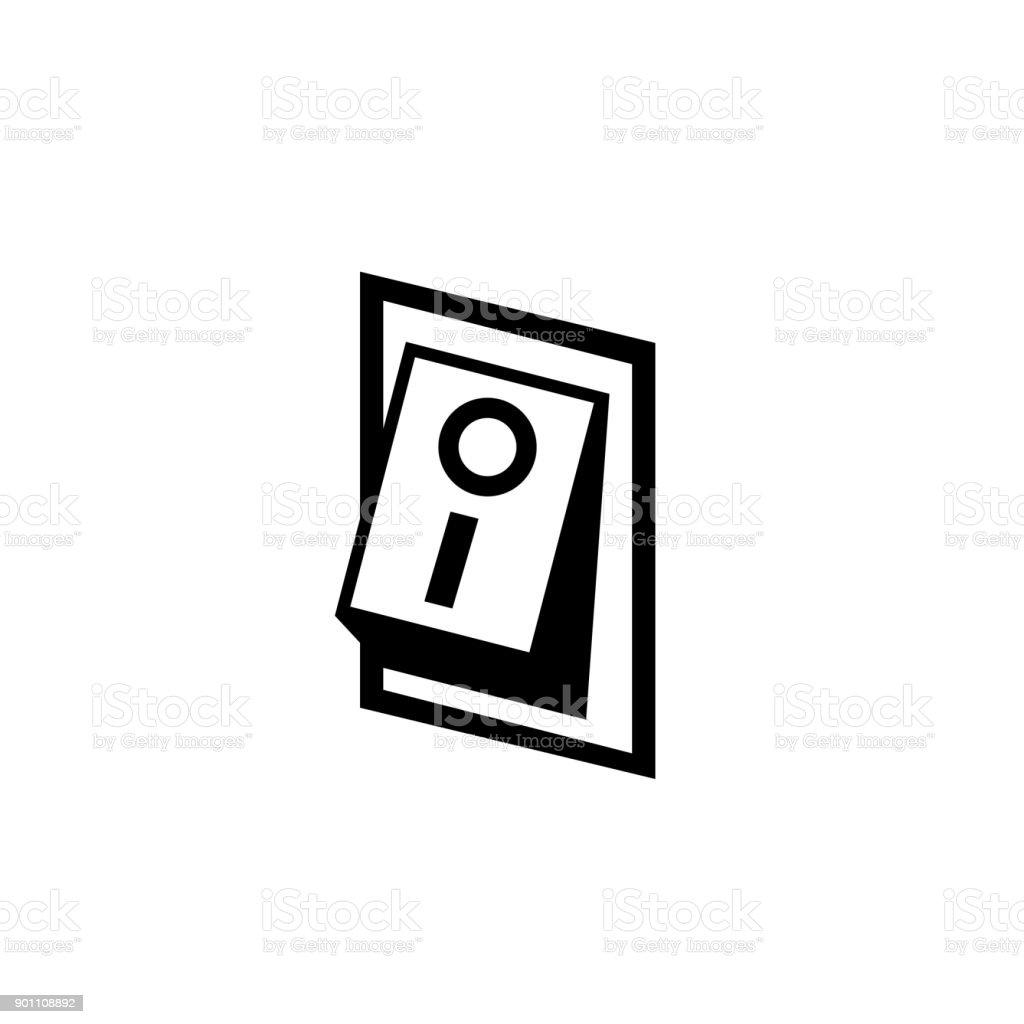 Auto Auf Ausschalter Symbol Schalter Symbol Stock Vektor Art und ...