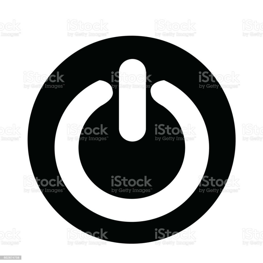 Symbol Auf Ausschalten Stock Vektor Art und mehr Bilder von Alphabet ...
