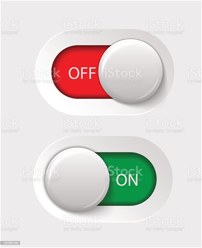 on - off switches vector art illustration