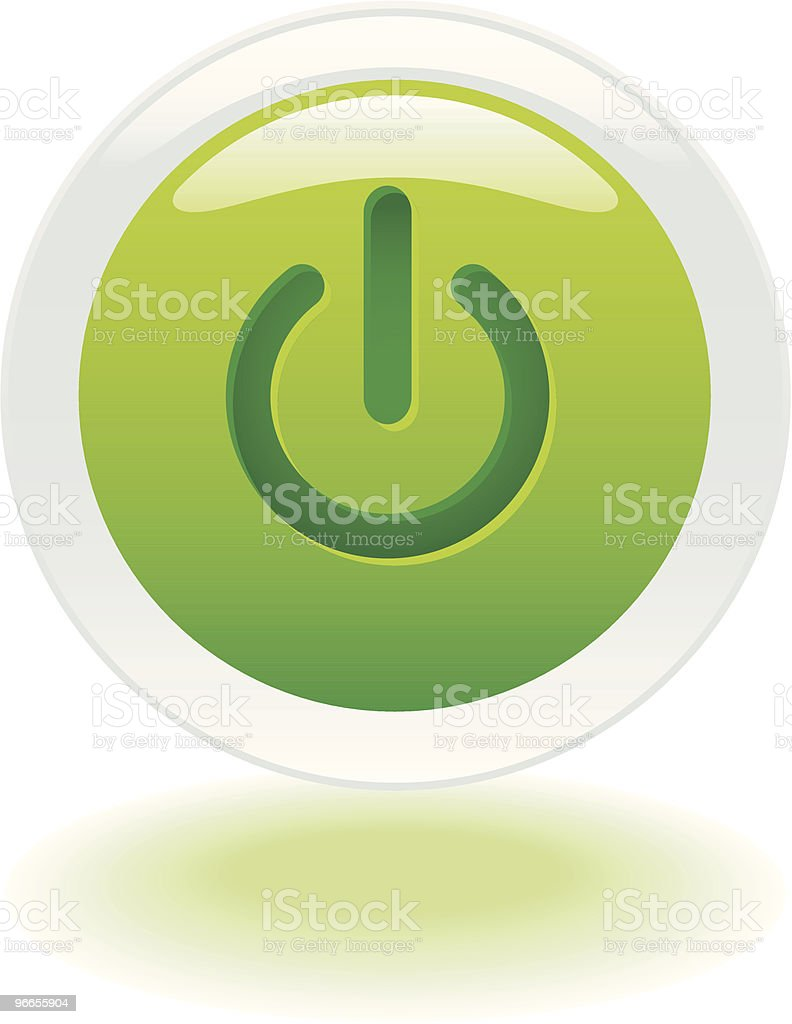 On or Off button royalty-free stock vector art