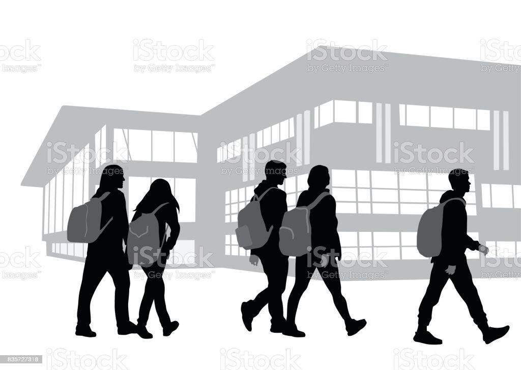 Sur notre chemin de l'école - Illustration vectorielle