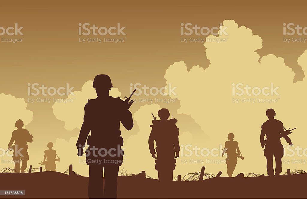 On patrol vector art illustration