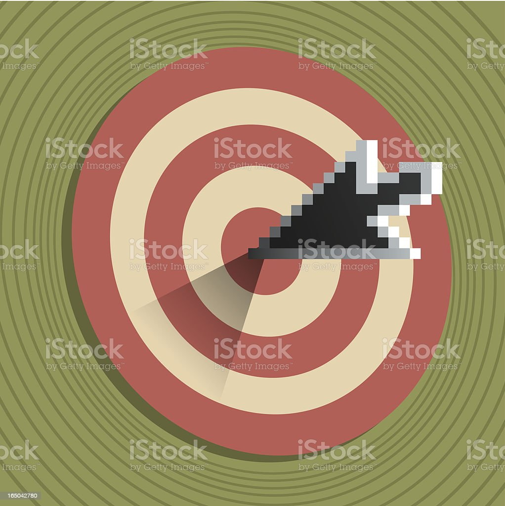 On Target royalty-free stock vector art