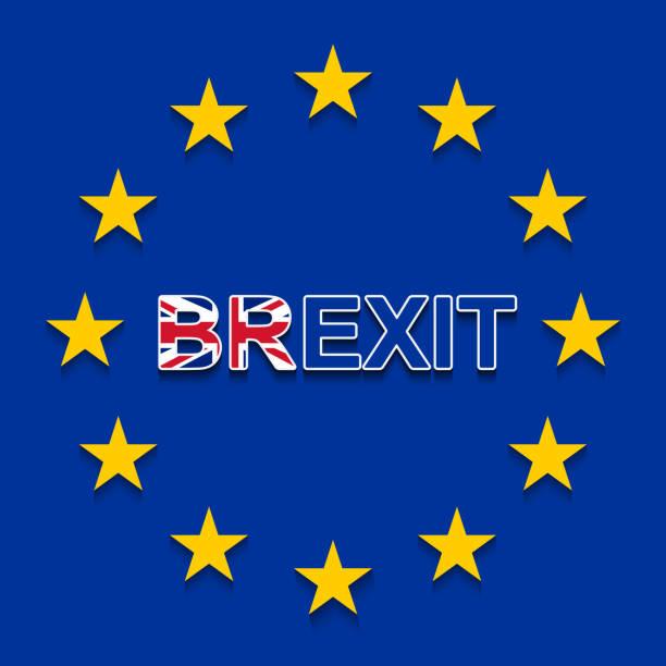 ilustrações, clipart, desenhos animados e ícones de brexit sobre a bandeira da ue - a retirada do reino unido da ue - bandeira union jack