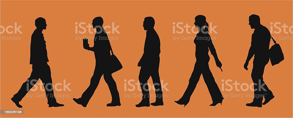 On the go business ppl. ( Vector ) royalty-free stock vector art