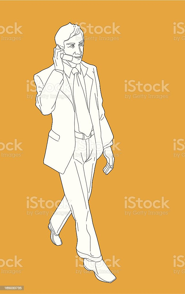 On the Phone royalty-free stock vector art