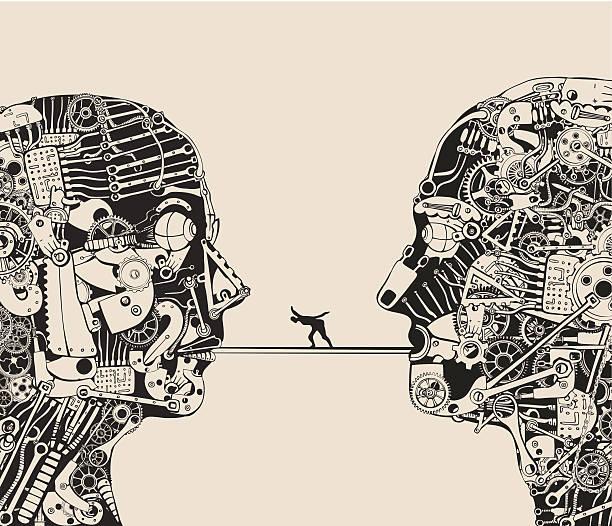 On the verge of understanding. vector art illustration