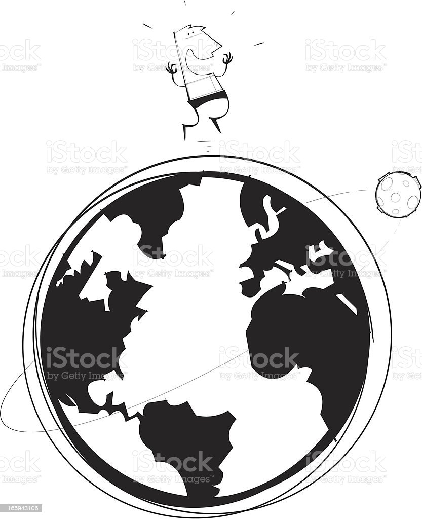 On Top of the World royalty-free stock vector art