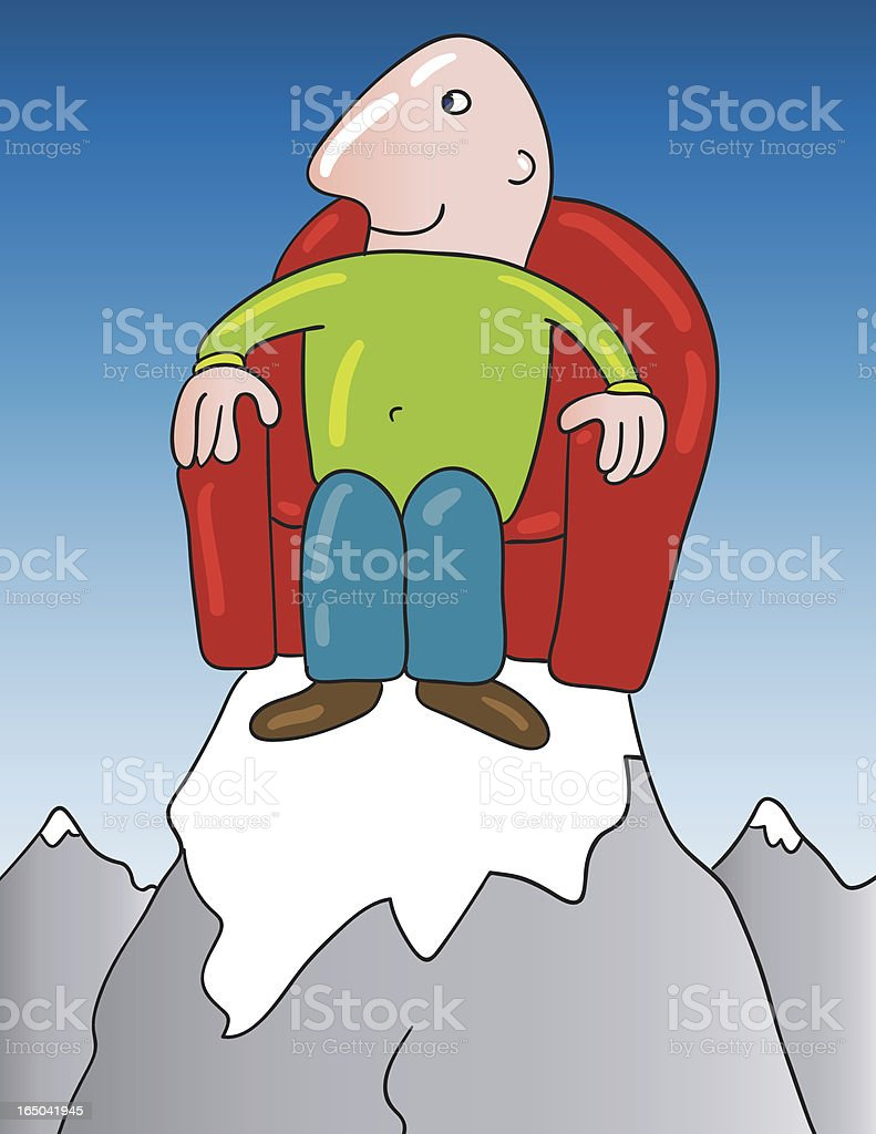 On top royalty-free stock vector art