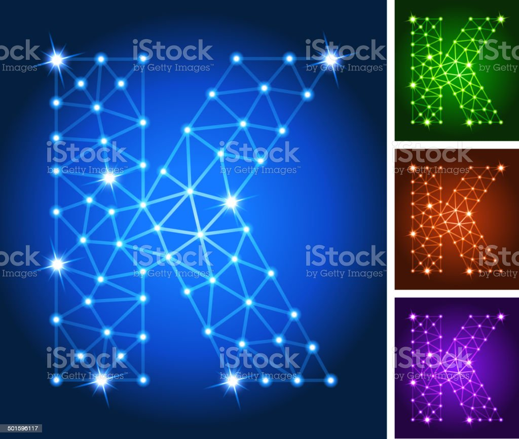 K on triangular nodes connection structure vector art vector art illustration