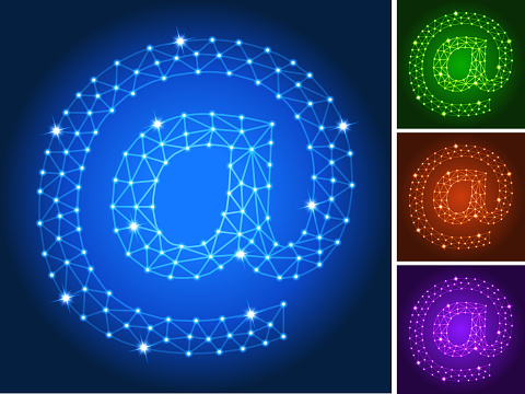 @ on triangular nodes connection structure vector art