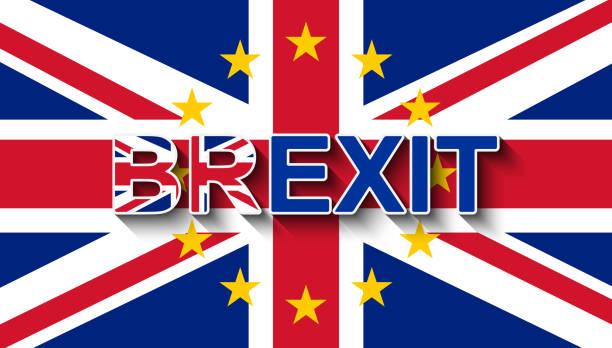 ilustrações, clipart, desenhos animados e ícones de brexit na união jack com a coroa de estrelas da união europeia - retirada do reino unido da ue. - bandeira union jack