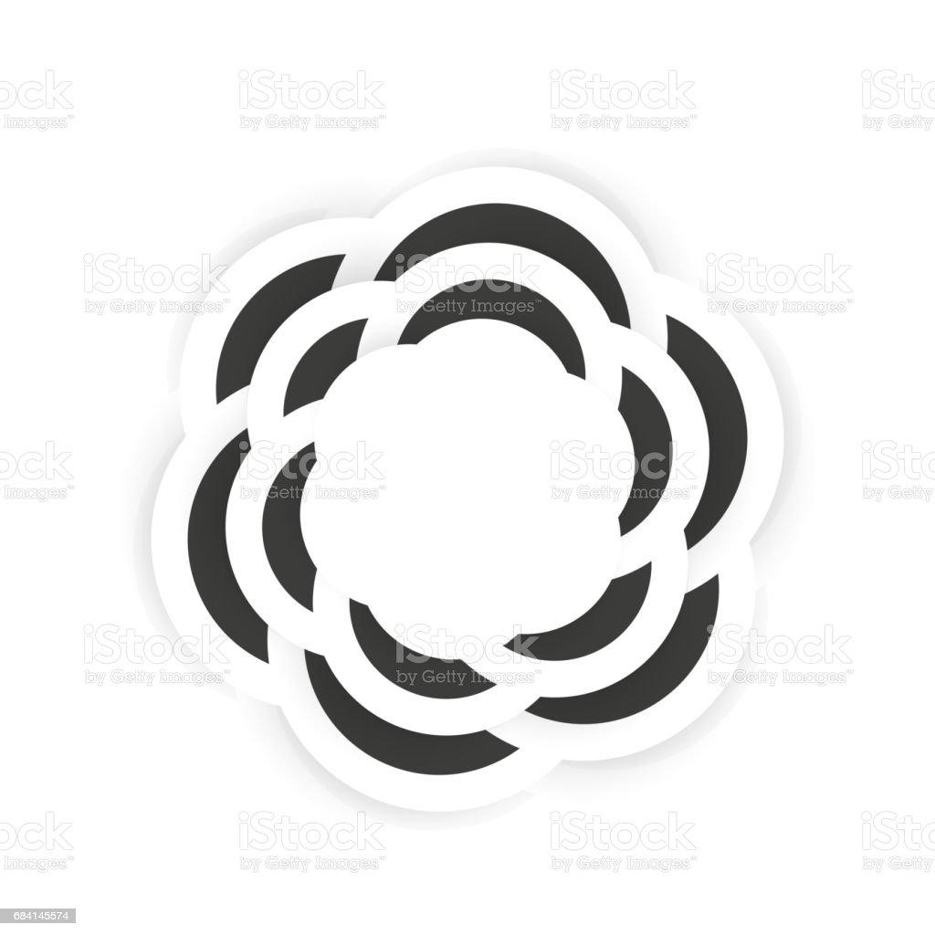 On white background, isolated object. Abstract flower on white background isolated object abstract flower - immagini vettoriali stock e altre immagini di arte royalty-free