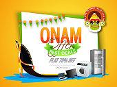 Onam Best Deals Offer Poster, Banner or Flyer.