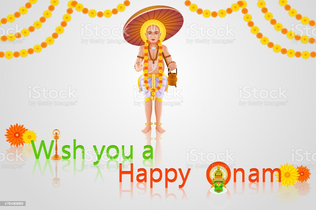 Onam Greetings royalty-free stock vector art