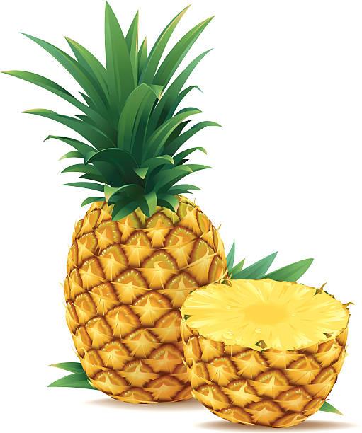 illustrazioni stock, clip art, cartoni animati e icone di tendenza di un centesimo e mezzo di ananas - ananas
