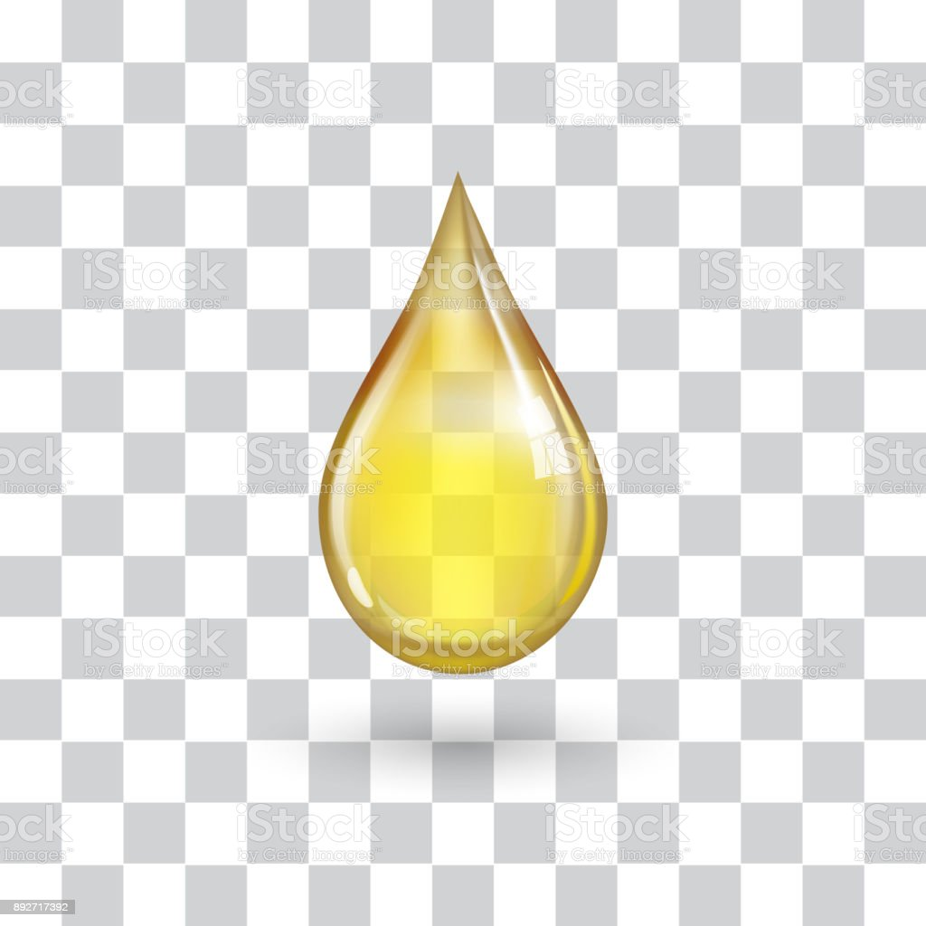 One big yellow drop vector art illustration